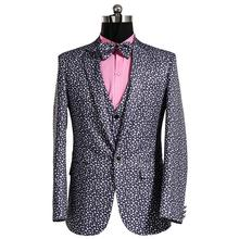 Studio theme newest coat pant designs printing new Korean model of Slim go well with males groom wedding ceremony gown informal males's go well with jacket