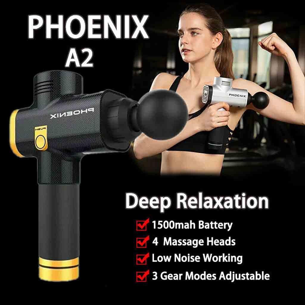 Hot Fashion Phoenix A2 Massage Tool Percussion Massager Muscle Vibrating Relaxing Machine Maquiagem Drop Shipping