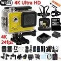 """Câmera ação Ultra HD 4 K 24fps WiFi 2.0 """"170D Lente Capacete Cam Pro Subaquática Ir À Prova D' Água Esporte Radical Camcorder"""