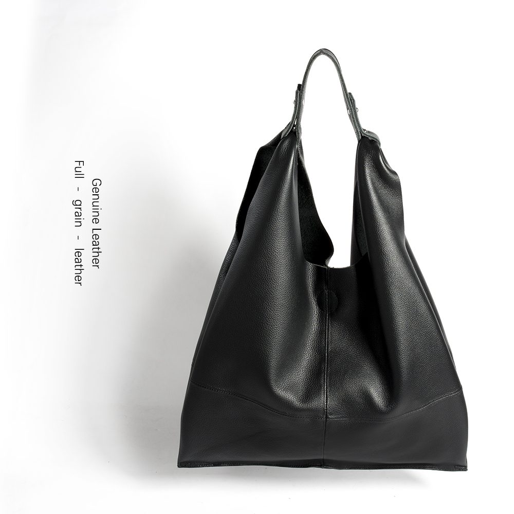 New Casual Women Hobo Bag Soft Genuine Cow Leather Fashion Shoulder Bags Female Large Tote Bucket Shopping Handbag&Liner Bag niuboa soft genuine leather women tote bag leather vintage brand work handbag new euro women bucket bag elegant shoulder bags