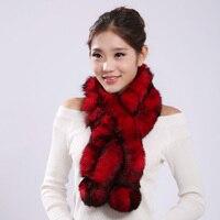 Autumn Real Rabbit Fur Scarf Winter Women Fur Muffles Lady Warm Neck Rings