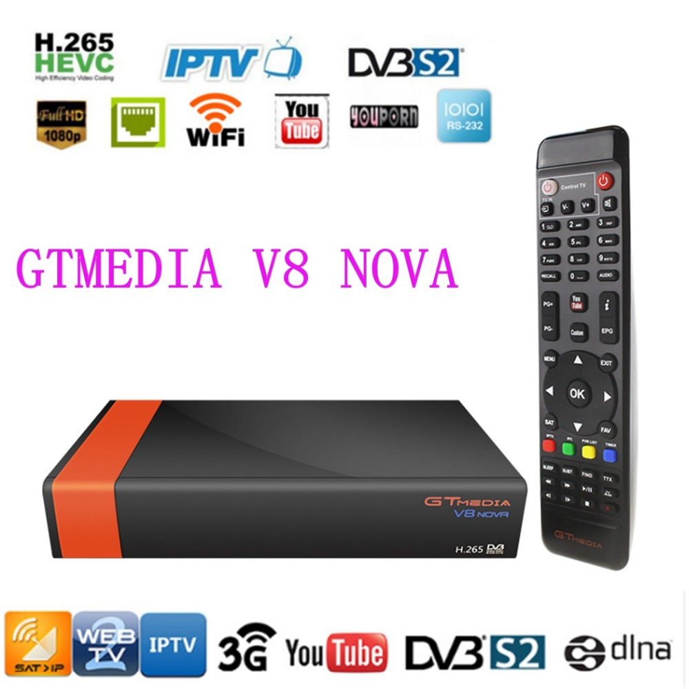 (New V8 Super) Gtmedia V8 Nova DVB-S2 Freesat TV Satellite Built Wifi Full HD 1080P Freesat Satellite Receiver Digital TV Box [genuine] freesat v8 super