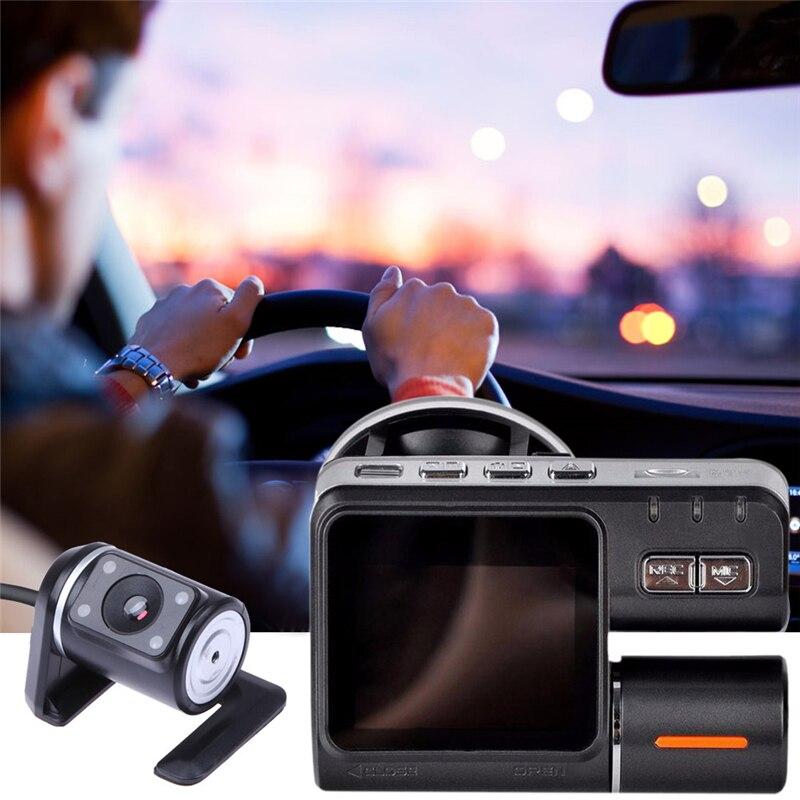 2.0 Car Camera DVR Dual Lens Rearview Mirror Video Recorder FHD 1080P Automobile LCD Dash Cam Auto Motor Dashcam Camcorder