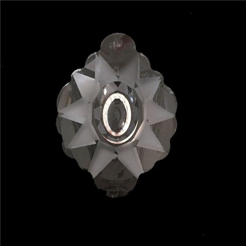5ks / lot 76mm křišťálové lustrové přívěsky / - Dekorace interiéru