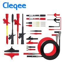 Cleqee Multifunctional Multimeter Probe Kit Piercing IC Test Hook Lead Needle 4mm Banana Plug Alligator Clip stick Clamp