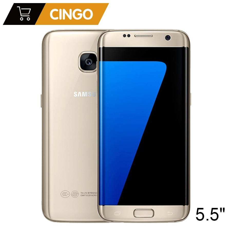 D'origine Samsung Galaxy S7 Bord/Plus 4 gb RAM 32 gb ROM 5.5 pouces LTE Téléphone Portable 12.0 MP Android Quad Core Débloqué téléphone Portable