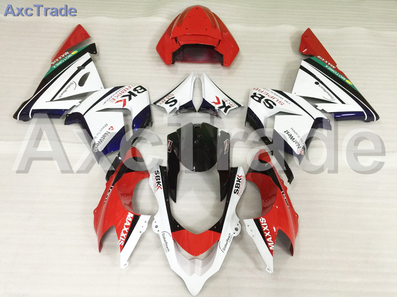 Motorcycle Fairings Kits For Kawasaki Ninja ZX10R ZX-10R 2004 2005 04 05 ABS Plastic Injection Fairing Bodywork Kit Red White