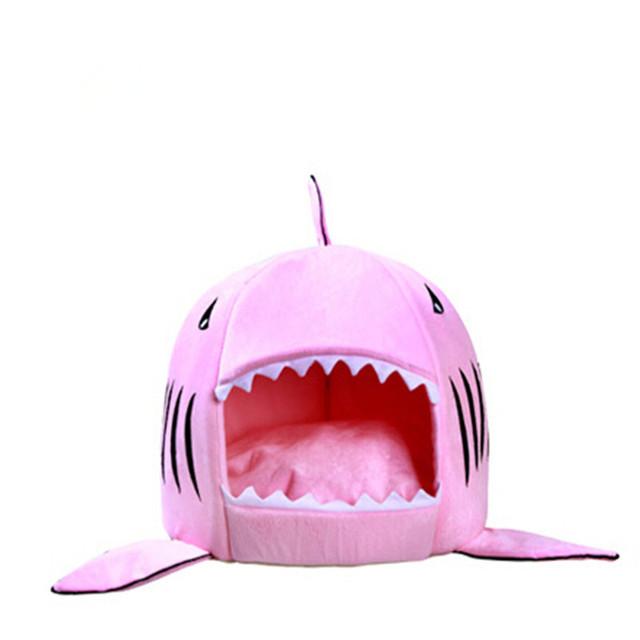 Fiber Funny Shark Shaped Dog Bed