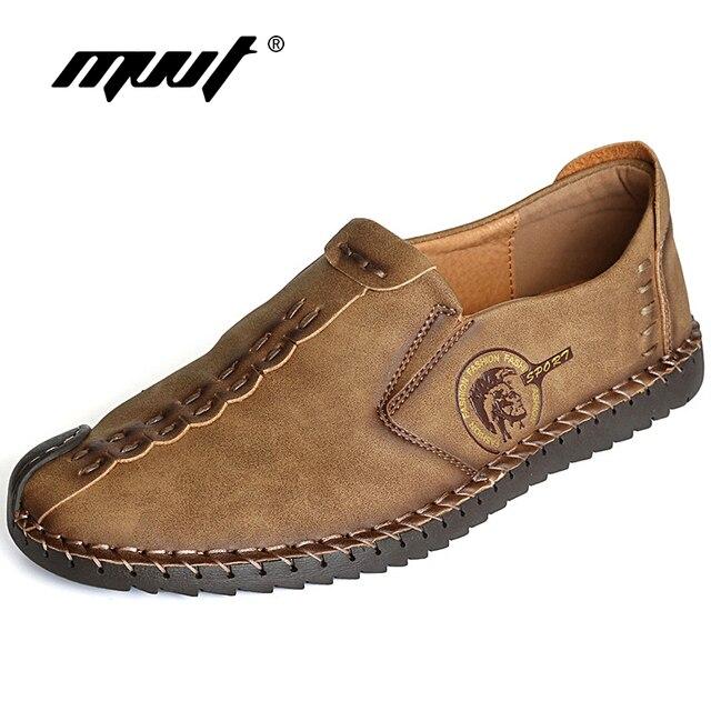 Clásico cómodo hombres zapatos Casual hombres zapatos calidad Split zapatos de cuero hombres planos Venta caliente mocasines zapatos más tamaño