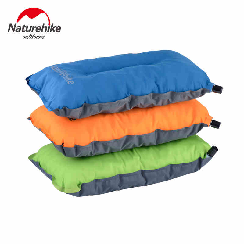 naturehike automatic self inflatable air pillows portable outdoor travel camping hiking compressed nonslip pillow
