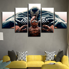 Wall Art Poster Home Decor Modern 5 Panel Venom Spiderman Marvel Comics Living Room Canvas Print Modular Painting Pictures Frame marvel comics universe poster