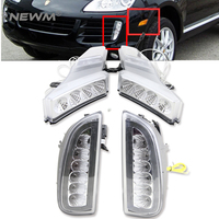 2sets Car Styling One Set LED Daytime Running Lights One Set Led Side Marker For Porsche