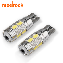 Meetrock 1pcs car styling Car Auto LED T10 194 W5W 10 smd 5730 LED Light Bulb led light parking T10 LED Car Side Light