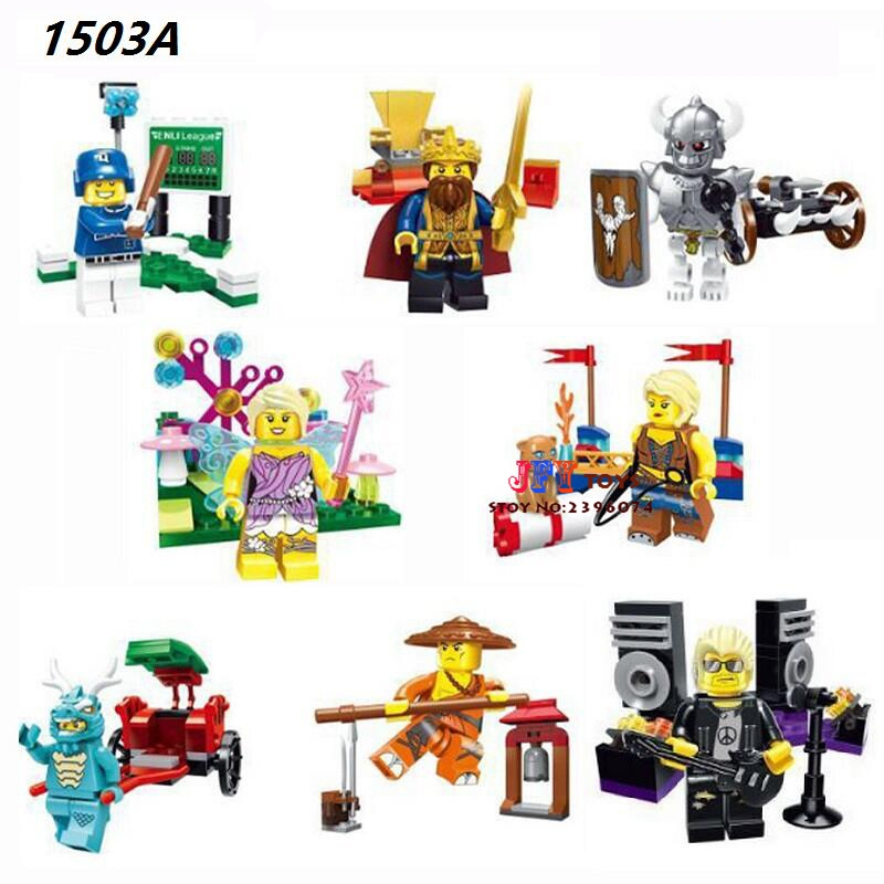 8pcs Star wars super hero King Knight baseball Series Collection models kits building blocks bricks toys for children juguetes