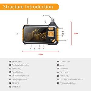 Image 4 - Endoscopio Industrial 1080P HDProfession boroscopio Digital 4,3 pulgadas LCD serpiente cámara de vídeo impermeable cámara de inspección
