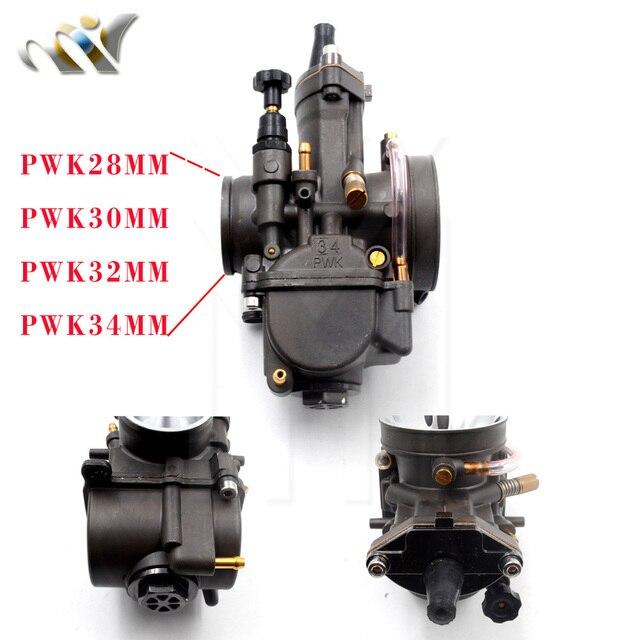 US $25 79 10% OFF|PWK 28 30 32 34 MM PWK28 KEIHIN Carburetor Motorcycle  Carburador With Power Jet Fit On Racing Motor 2T 4T Engine ATV Bike-in