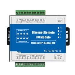 Modbus TCP RJ45 remoto Ethernet IO Módulo de bus de campo automatización incorporada perro guardián apoya REGISTRO DE M120T