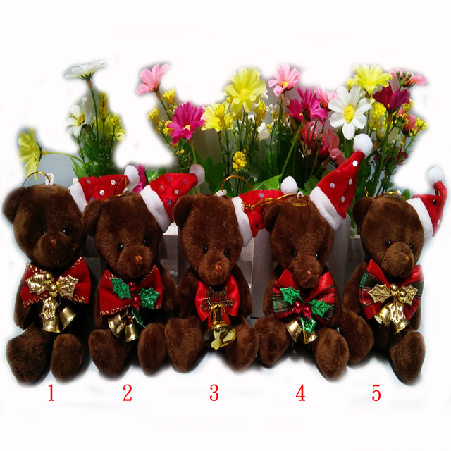 christmas jointed teddy bear christmas joint bear christmas tree decorations christmas tree ornaments