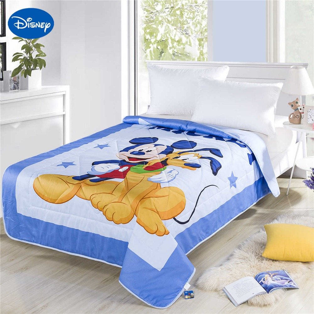 Blue Mickey Mouse Goofy Summer Quilts Comforter Children's ...