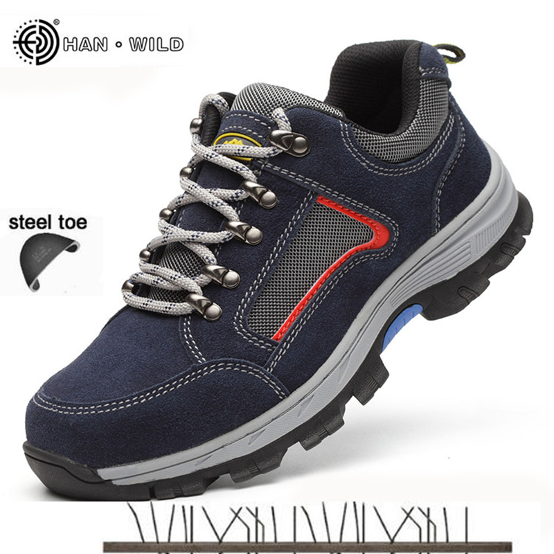 Work Safety Shoes For Men Vintage Blcak Mesh Breathable Steel Toe Cap Boots Mens Labor Insurance Puncture Proof Casual Shoe Man unisex safety shoes with steel toe cap working shoes men casual breathable mesh work safety boots puncture proof security boots