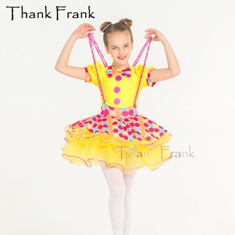 New Suspender Ballet Tutu Dress For Kids Adult Short Sleeve Bow Modern Dance Costume C442