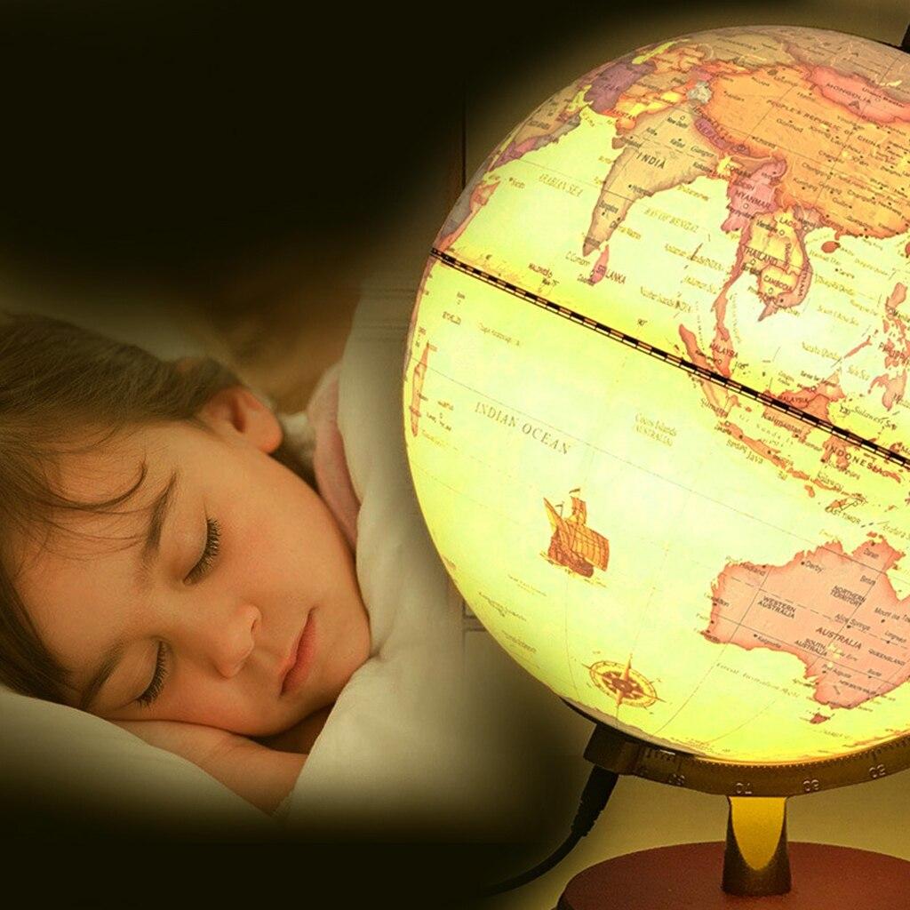 Style rétro géographique monde Globe carte lumières lampe jouet éducatif jaune - 5
