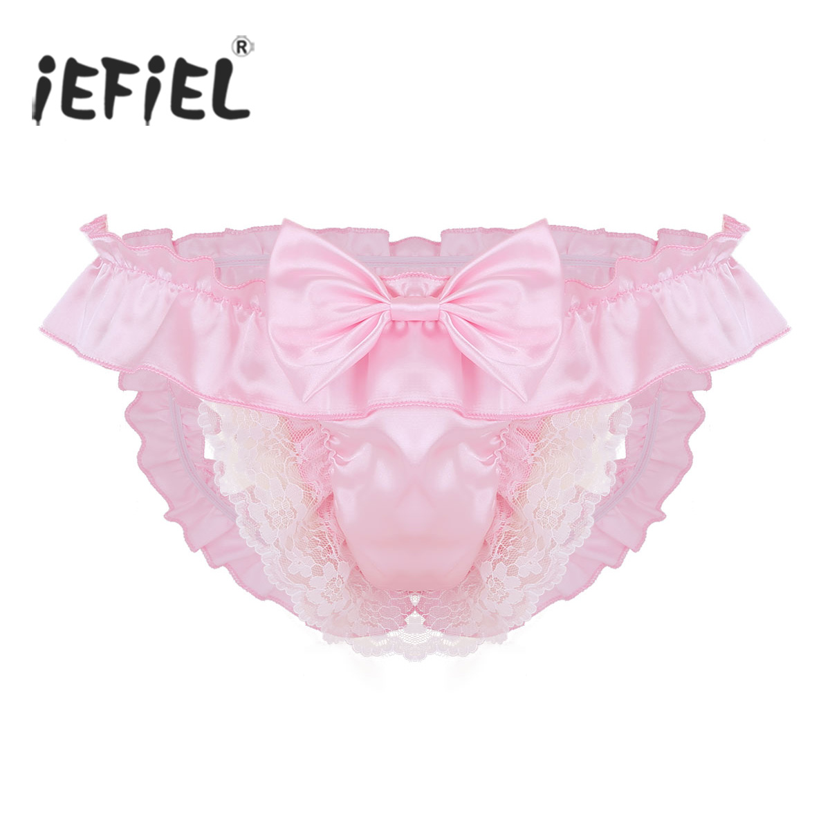 Sissy Sheer Soft Nylon Frilly Lace Panties Knickers Briefs CD TV Size 10-20