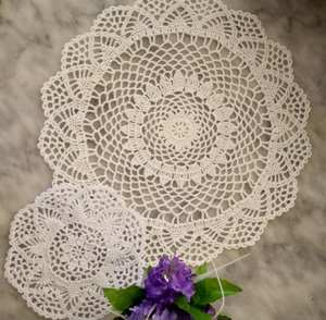 2Size New 2020 cotton placemat cup coaster mug kitchen wedding table place mat cloth lace Crochet tea coffee doily Handmade pad