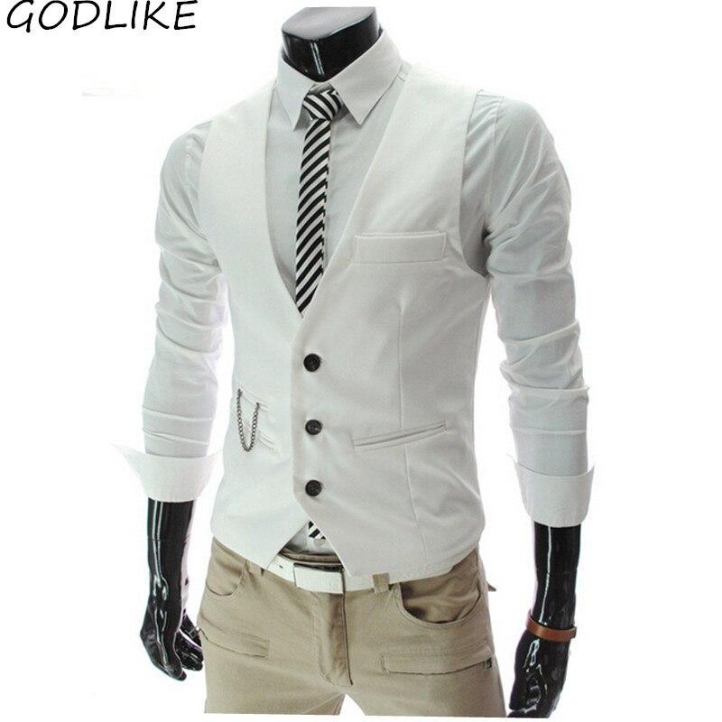 2019 New Fashion Men's Casual Slim Suit Vest Wedding Banquet Gentleman And Custom Made  Gentleman Style Men's Vest