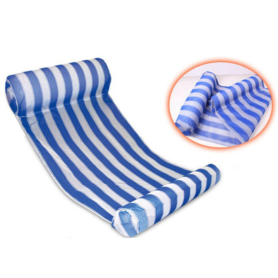 Summer PVC Floating Water Hammock Float Lounger Inflatable Beach Lounger Chair Float Inflatable Air Mattress Kids Adults