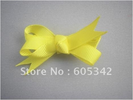 50 Pcs/Lot B Boutique Character Children Baby kids Todder Girls Ribbon Hair bows Hair clips + Free Shipping
