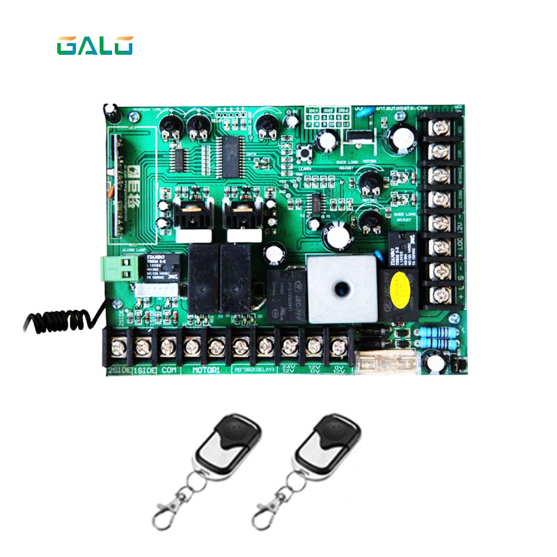 galo DC12V Swing Gate Control Board connect back up battery or solar system with metal cover remote cybernetics or control