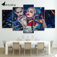 HD Printed 5 Piece Canvas Painting Margot Robbie I C U Scared Movie Poster Canvas Prints