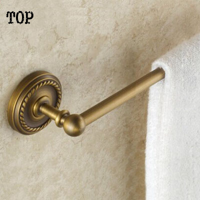 Free Shipping (60cm)Single antique Towel Bar,Towel Holder,Solid Brass Made,Chrome Finished, Bathroom Products free shipping bathroom products solid brass chrome single towel bar chrome towel holder towel rack bathroom accessories cs008d 2