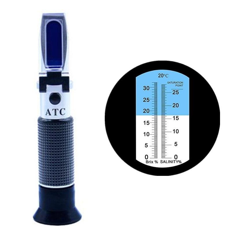 Konzentration Meter Schnelle Lieferung Tragbare Salzgehalt Meter Handheld Atc Salinometer Halometer Salz Gauge Salzig Sole Meerwasser Refraktometer Lebensmittel Salzgehalt Tester Werkzeuge