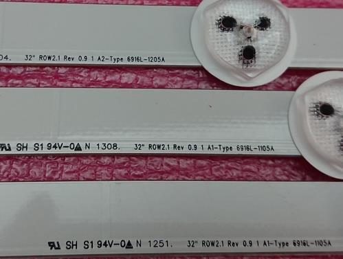 Nuevo 3 uds (2 * A1 * 7LEDs 1 * A2 * 8 LEDs) Barra de retroiluminación LED 32
