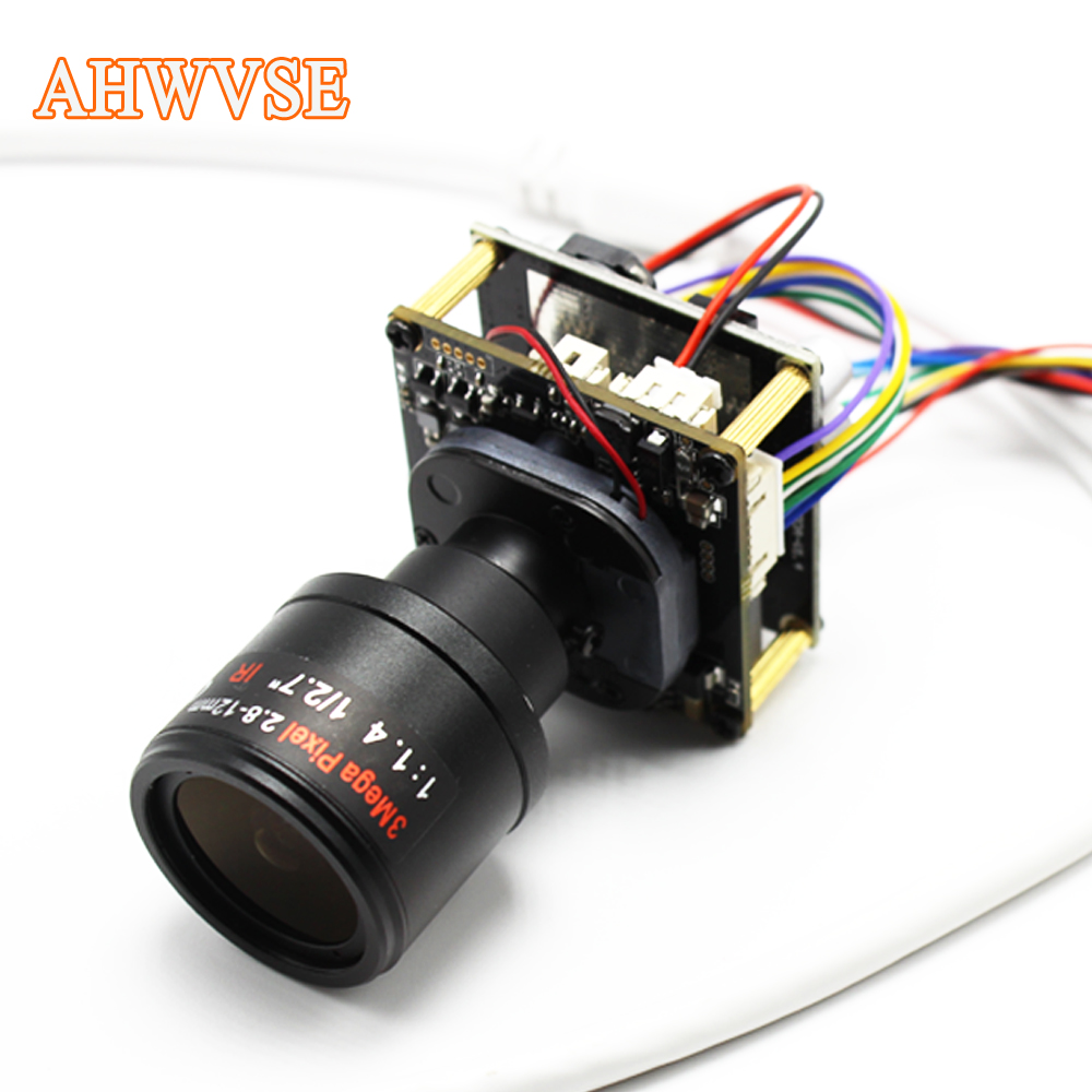 AHWVSE Long Distance 2.8-12mm Lens CCTV POE IP Camera module Board PCB 1080P IRCUT LAN Cable ONVIF Mobile XMEYE Security module xilinx xc3s500e spartan 3e fpga development evaluation board lcd1602 lcd12864 12 module open3s500e package b