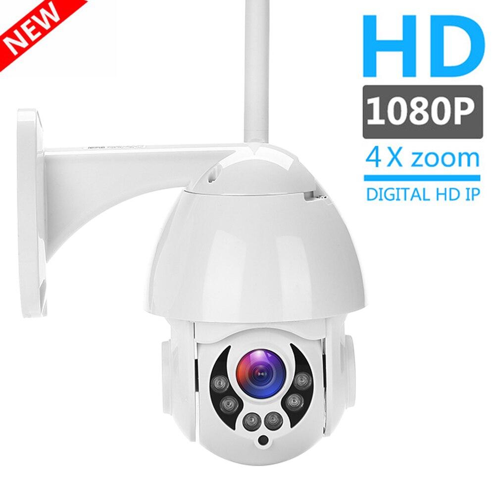 2MP 1080P Sem Fio Wi-fi Câmera IP PTZ Speed Dome CCTV IR Onvif IP Cam wi-fi Ao Ar Livre Câmera de Vigilância de Segurança ipCam Camara