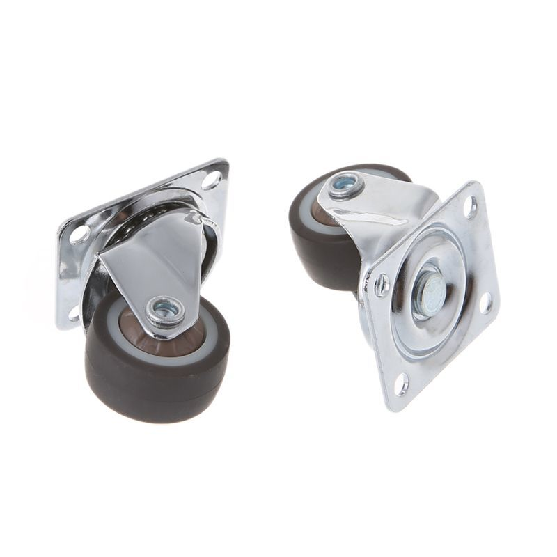 TPE Caster Wheels Set Kit 4Pcs Mounted Replacement Mini Small Practical