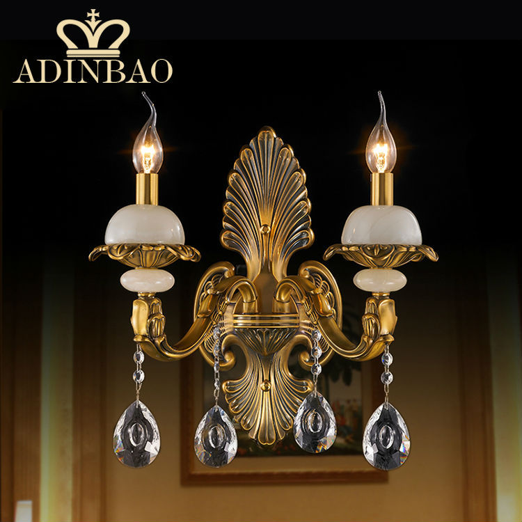 Aliexpress.com : Buy Romantic Candle Wall Lamp K9 Crystal Wall Sconce Bronze Color Outdoor Wall ...