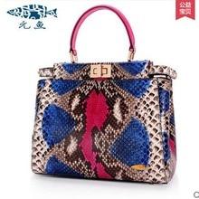 yuanyu new 2016 women bag import real python leather single shoulder bag fashion large capacity Snake