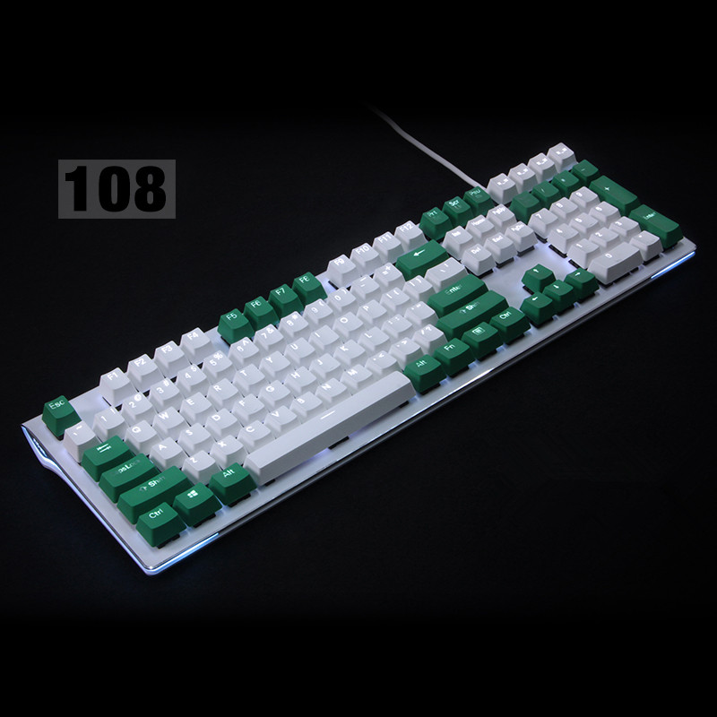 Backlit 108 ANSI ISO-layout Dikke PBT Keycap Double shot Backlight - Computerrandapparatuur - Foto 3