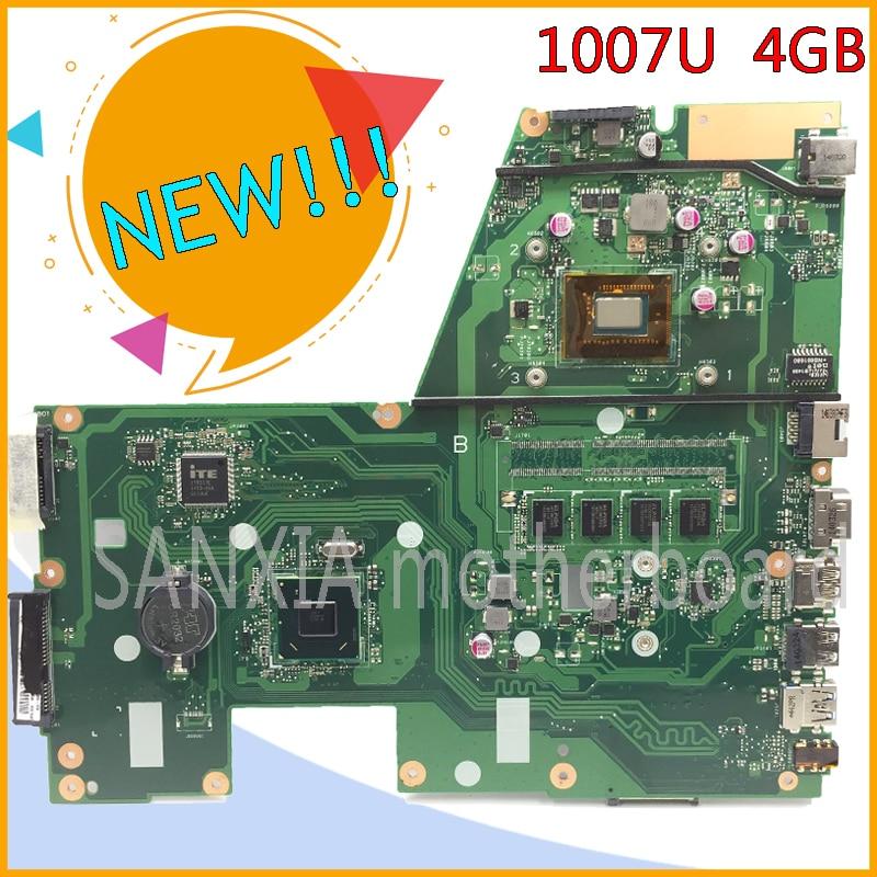 SHELI original X551CA motherboard for ASUS X551CA F551C F551CA laptop motherboard tested mainboard 1007U rev2.2 notebook samxinno for asus x551ca x551cap laptop motherboard x551ca mainboard rev2 2 1007u 4gb memory 100% tested