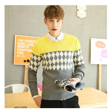 Мужская одежда пуловер с круглым вырезом свитер осень и зима свитер мода плюс бархат утолщение основной мужские пуловеры