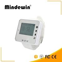 Mindewin Moda Relógio 433MHz Receptor Pager Chamando Garçom Chamada Pager Sistema de Chamada Sem Fio Restaurante Equipamentos de Restauração| |   -