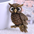 Korea New Arrival Big Owl Brooches For Wedding Bouquet Vintage Wedding Hijab Scarf Pin Up Buckle femininos Broches Game Bijoux