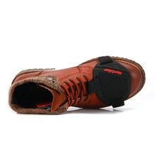 Раро мотоботы с лацканами Для мужчин Обувь для отдыха шоссейном велосипеде велосипед Скутер мотоцикл повседневные ботинки обувь кожаные мото сапоги