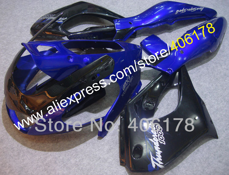 Hot Sales,97-07 YZF1000R Body kit For Yamaha YZF 1000 Parts Thunderace ABS Fairing Kit 1997-2007 Blue Black Motorcycle Fairing for yamaha yzf 1000 r1 2002 2003 yzf1000r inject abs plastic motorcycle fairing kit yzfr1 02 03 yzf1000r1 yzf 1000r cb29