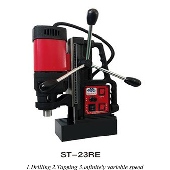 Steel Plate Drilling Machine Magnetic Drill Small Adjustable Speed Desktop High Power Drilling Machine ST-23RE machine drill sturm bd7045 power 450 w cartridge from 0 to 16mm speed from 280 to 2350 rpm
