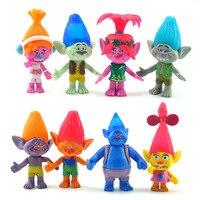 Nouveau 8 Pcs/ensemble 2016 Film Trolls PVC Figurines Jouets 10-11 cm Mignon de Bande Dessinée DreamWorks Pavot Poupées Pour Les Enfants De Noël cadeau